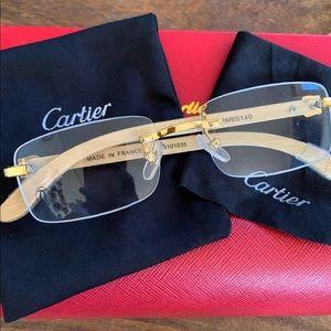 Cartier Woodframe Glasses